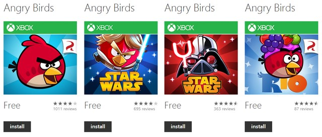 4 Seri Game Angry Birds Digratiskan di Windows Phone Store