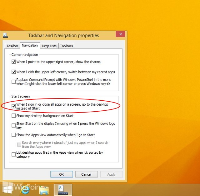 Windows 8.1 RTM Dilengkapi Opsi Kembali Ke Desktop Setelah Menutup Modern Apps