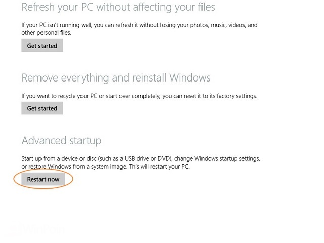 Cara Boot ke Advanced Startup Options di Windows 8.1