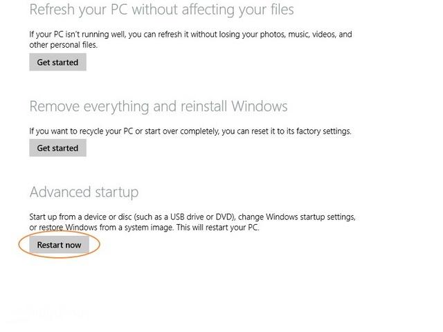 Cara Boot ke Advanced Startup Options di Windows 8.1