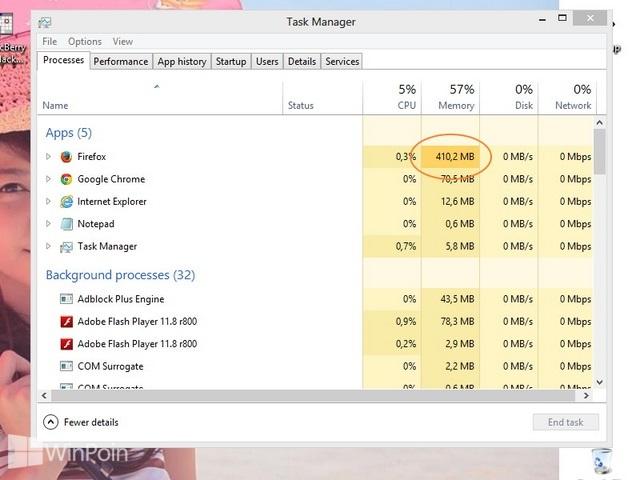 Cara Melihat Penggunaan Memory Extensi Browser