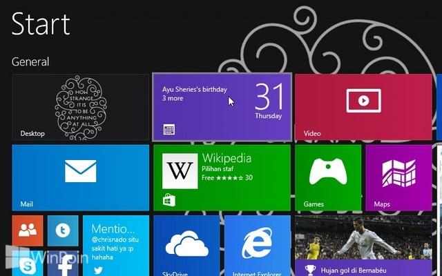 Cara Mematikan Notifikasi Aplikasi Modern Tertentu di Windows 8 & 8.1