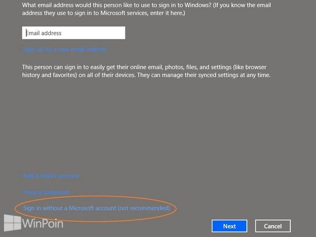 Cara Membuat Akun Offline Baru di Windows 8.1