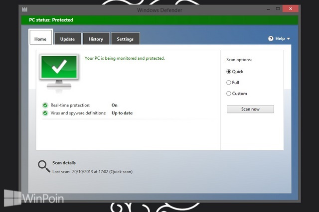 Cara Mengaktifkan Windows Defender di Windows 8