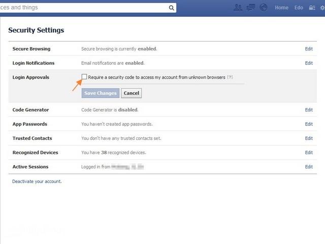Cara Mengamankan Akun Facebook dengan 2 Kali Verifikasi
