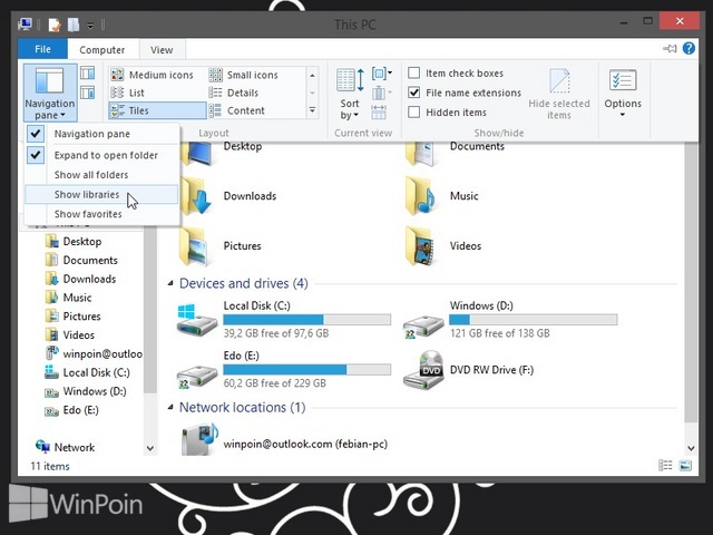Cara Mengembalikan Folder Library di Windows 8.1