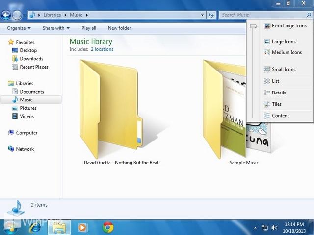 Cara Mengganti Ukuran Icon di Window Explorer Windows 7