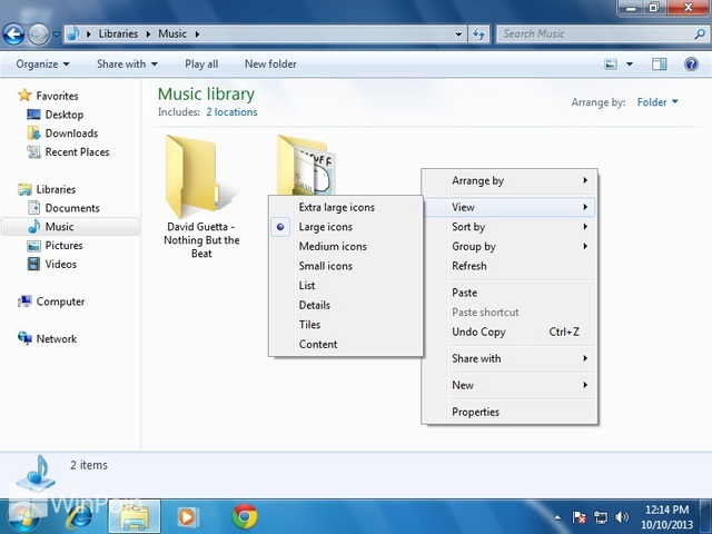 Cara Mengganti Ukuran Icon di Window Explorer Windows 7