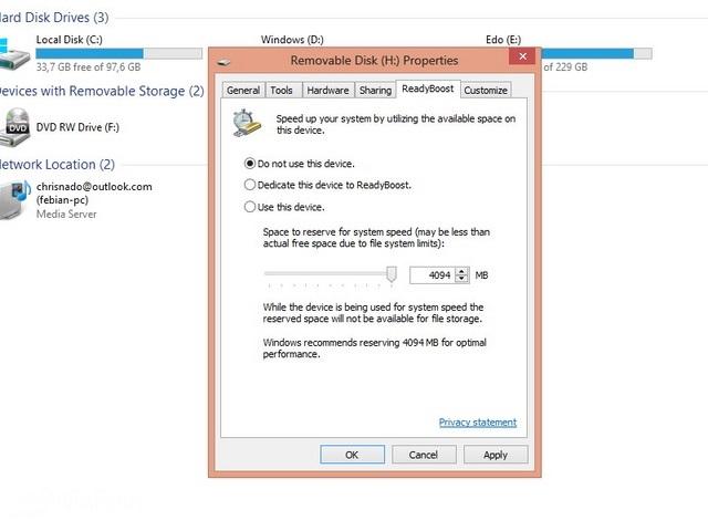 Cara Mengaktifkan ReadyBoost di Windows 7