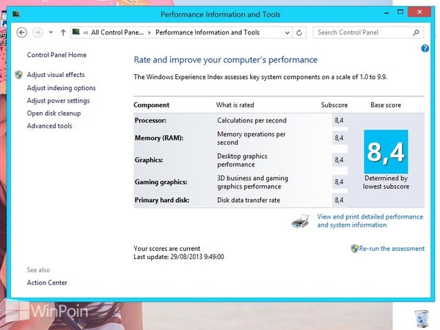 Cara Mengubah Nilai Score Windows Experience Index