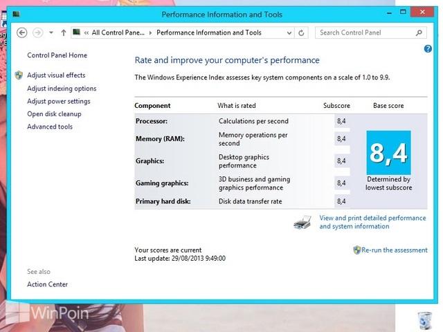 Cara Mengubah Nilai Score Windows Experience Index