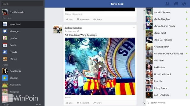 Download Aplikasi Facebook Untuk Windows 8 | WinPoin