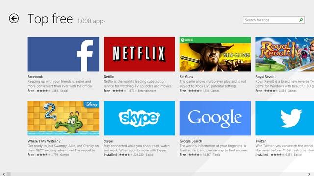 Facebook Menjadi Aplikasi Gratis Terpopuler di Windows Store