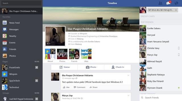 Windows 8 The Official Review: Inilah Aplikasi Facebook Official Untuk Windows 8.1
