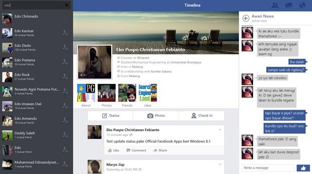 Inilah Aplikasi Facebook Official untuk Windows 8.1 [Review Esklusif]