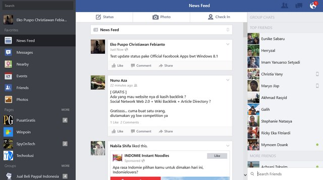 Inilah Aplikasi Facebook Official untuk Windows 8.1 [Review Esklusif]