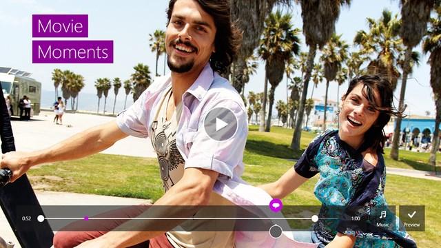 Windows 8.1 Memiliki Aplikasi Movie Moments dengan Video Editor