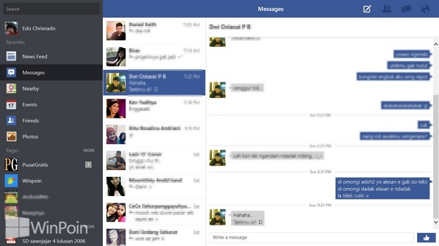 Review Aplikasi Facebook Windows 8: Memberikan Notifikasi Real Time
