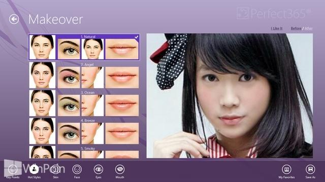 Review Aplikasi Perfect365 Windows 8: Makeup Foto Tanpa Pikir Pusing