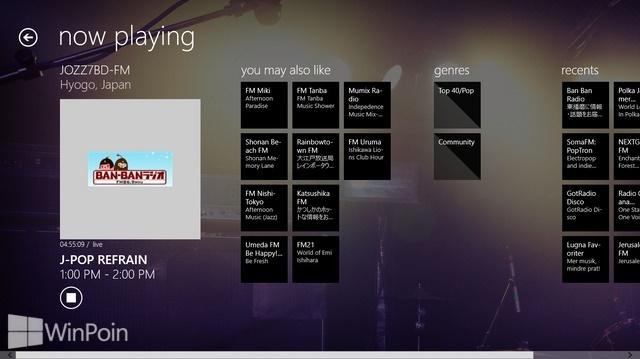 Review Aplikasi TuneIn Radio Windows 8: Radio Streaming, Kaya Stasiun