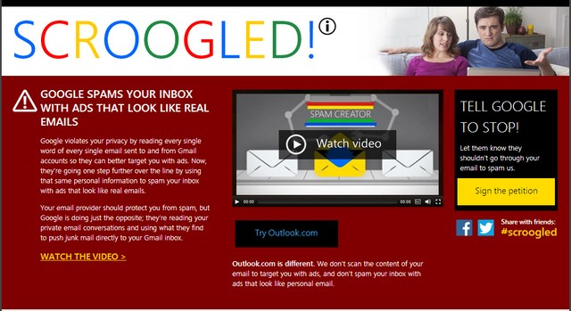 Microsoft Berhasil Menjauhkan Orang dari Google dengan Scroogled!