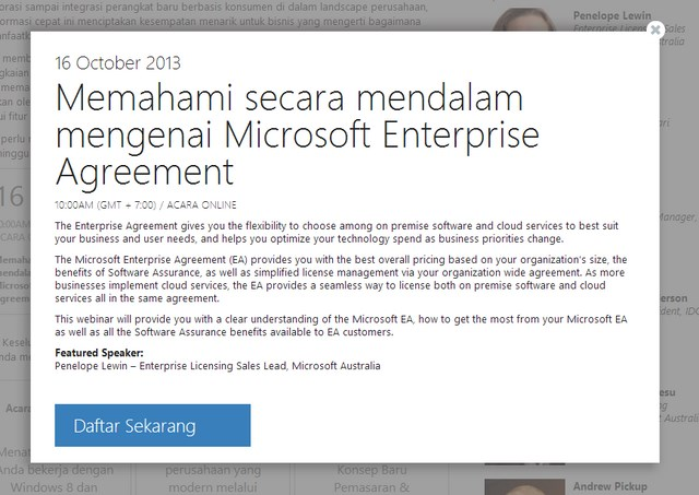 Ikuti Webinar Meet The New Microsoft Minggu Ini: Memahami Microsoft Enterprise Agreement