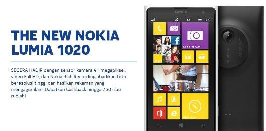 Harga dan Tanggal Rilis Nokia Lumia 1020 di Indonesia Telah Muncul