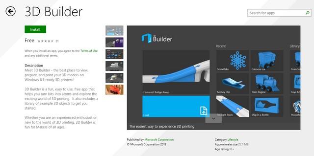 Microsoft Merilis Aplikasi 3D Printing untuk Windows 8.1