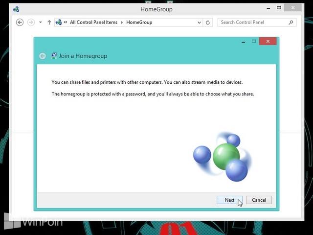 Cara Join HomeGroup di Windows 8