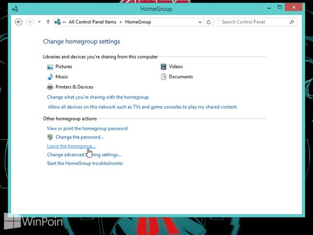 Cara Keluar dari HomeGroup di Windows 8 dan Windows 8.1