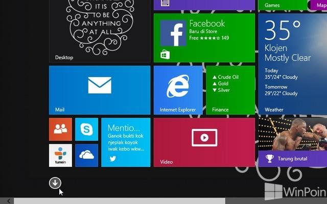 Cara Melihat Daftar Aplikasi Desktop atau Modern di Windows 8.1