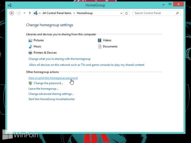 Cara Melihat Password HomeGroup di Windows 8