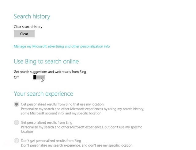 Cara Mematikan Bing Search di Windows 8.1