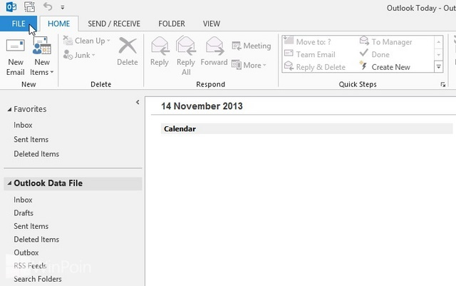how to create my business card in outlook 2013