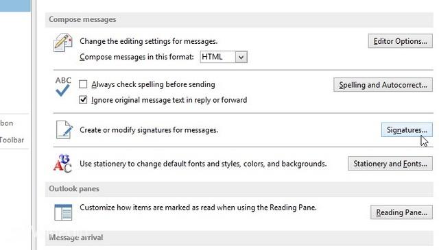 Cara Membuat Signature di Outlook 2013