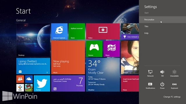 Cara Mengatur Personalize di Windows 8.1