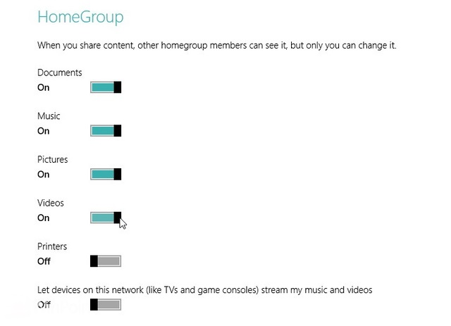 Cara Mengganti Pengaturan Sharing HomeGroup di Windows 8 dan Windows 8.1