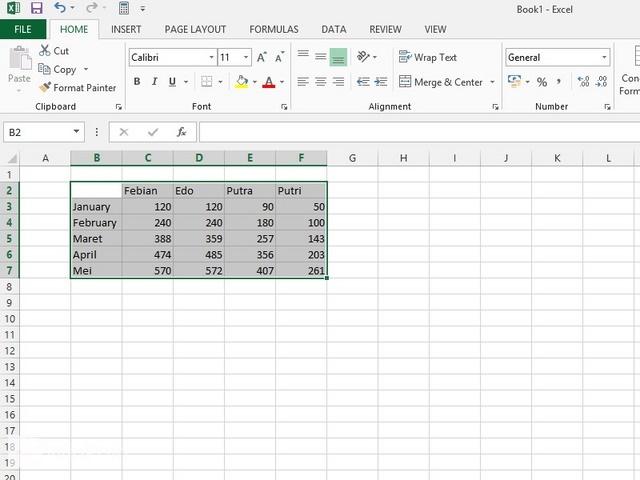 Cara Memindahkan Tempat Kolom dan Baris di Excel 2013