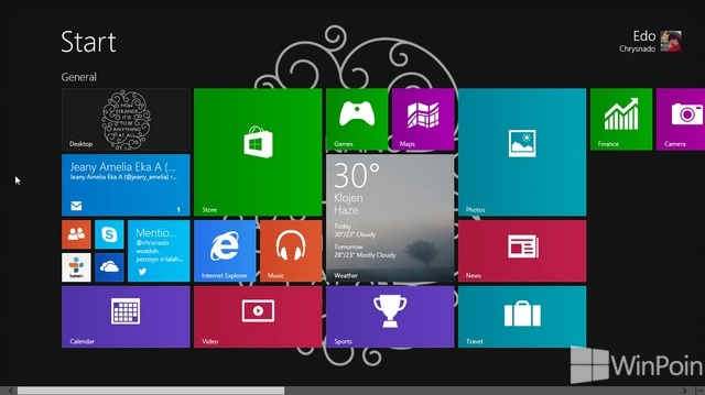 Cara Mengubah Ukuran Tile Aplikasi Start Screen di Windows 8.1