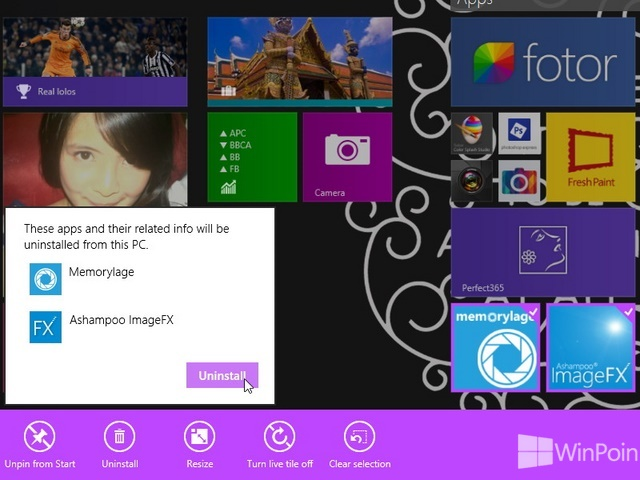 Cara Uninstall Aplikasi Windows Store di Windows 8.1