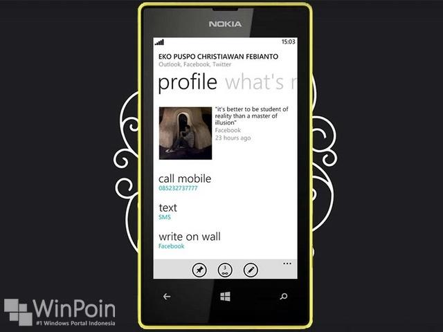 Cara Menggunakan Aplikasi People Hub di Windows Phone 8