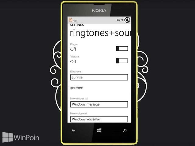 Cara Mengubah Profile Windows Phone 8 Menjadi Silent