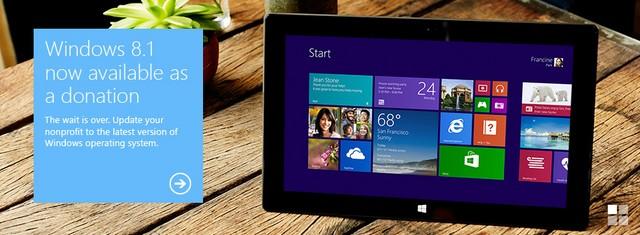 Microsoft Menggratiskan Windows 8.1 untuk Organisasi Non-Profit