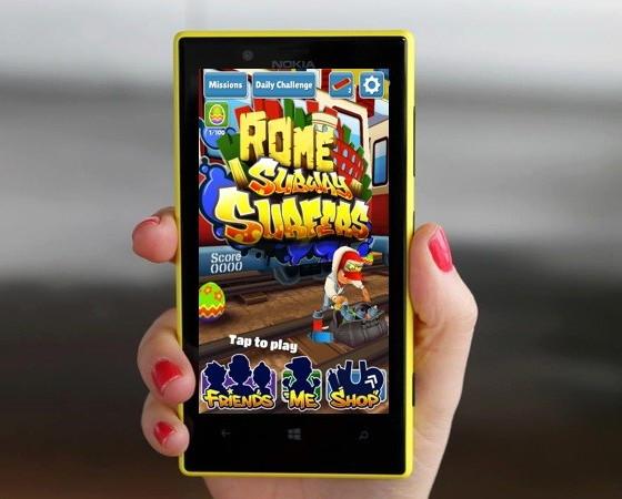 Game Subway Surfers Kini Hadir di Windows Phone 8