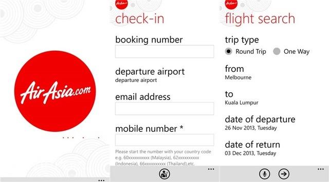 Aplikasi Official AirAsia Kini Sudah Hadir di Windows Phone
