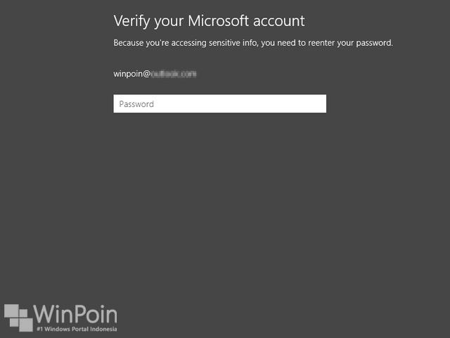 Cara Mengganti Password di Windows 8.1 (Akun Online)