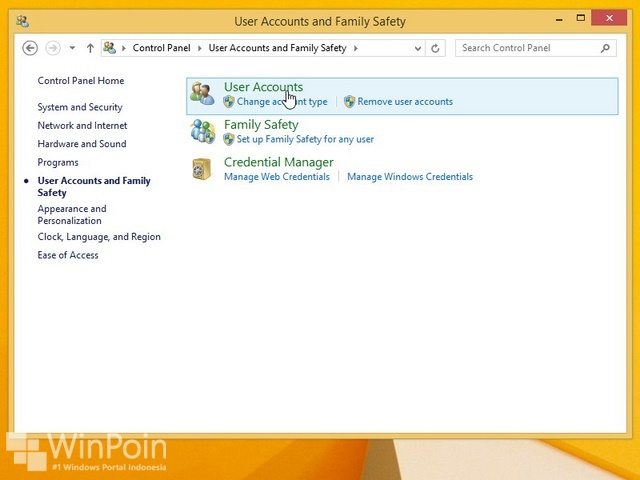 Cara Menghapus User di Windows 8.1