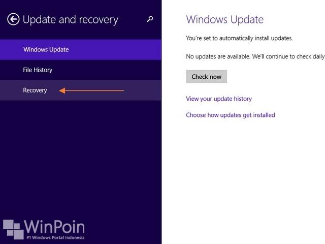 Cara Refresh Windows 8.1 (Dilengkapi Gambar)