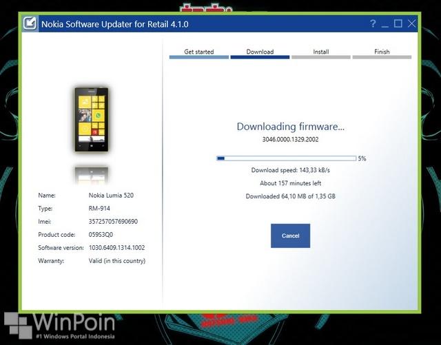 Cara Update Nokia Lumia 520 dengan Nokia Software Updater (NSU)