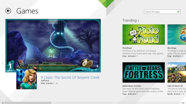 Game Menjadi Aplikasi Windows 8 Terpopuler di Windows Store